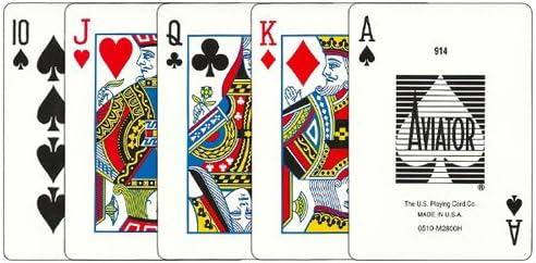 Amazon Com 12 Decks Aviator Cards Red Blue Poker Size Regular Index Toys Games