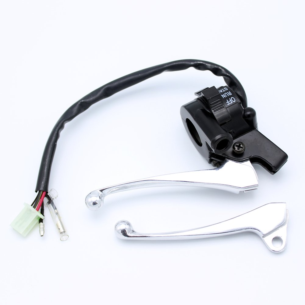 Yingshop Twist Throttle Housing Start Kill Switch Control Left Right Brake Lever Assembly for Yamaha PY50 PW50 Peewee Y-Zinger Dirt Pit Bike
