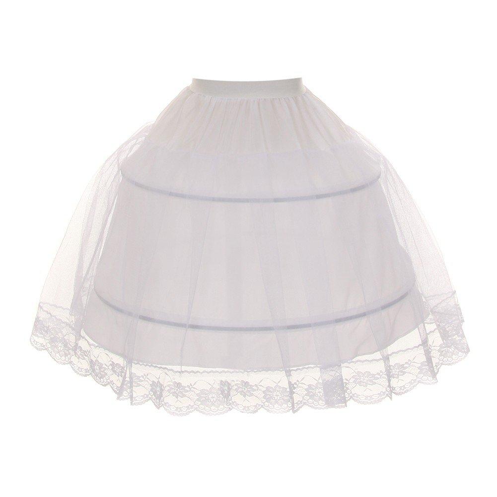 Kids Dream Little Girls White Half Hoop Wire FULL Princess Petticoat 2