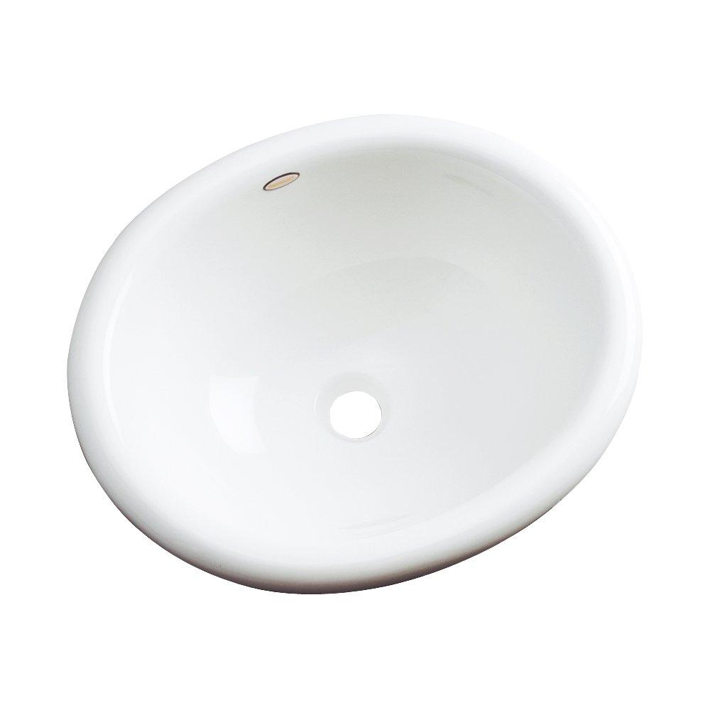 Dekor洗面台66000 Costa CastアクリルセルフRimmingバスルームシンク、ホワイト 66000 1 B01C56UL3C ホワイト ホワイト