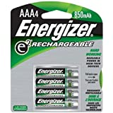 Energizer e NiMH Rechargeable Batteries, AAA, 4/pack