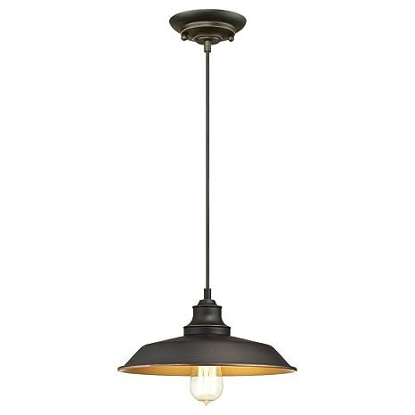 Westinghouse One-Light Indoor Pendant, Bronce Aceitado, Lámpara de techo colgante con 1 luz
