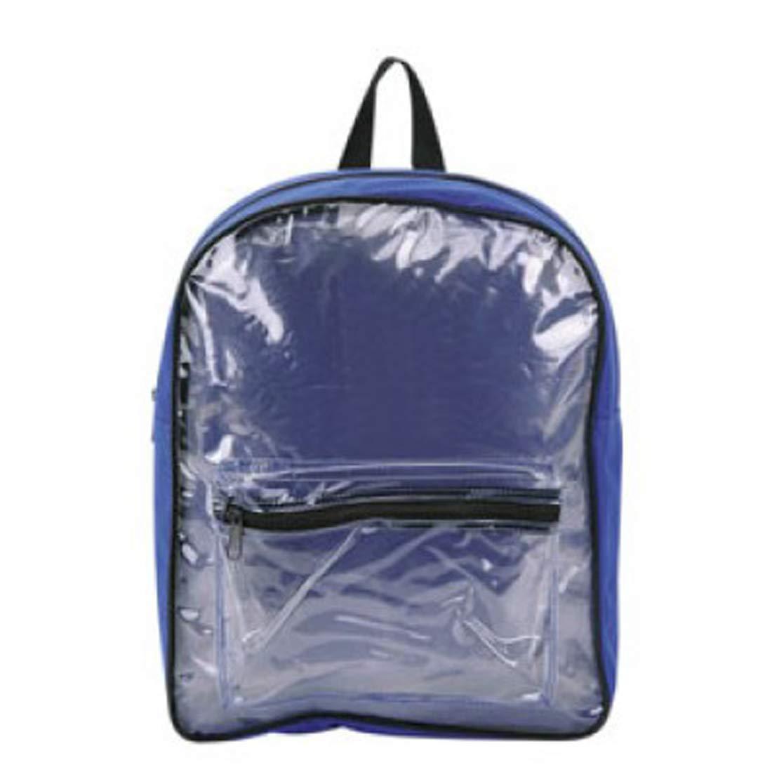 Multicolors Clear PVC Backpack  School Backpack  Gym Backpack (Royal bluee)
