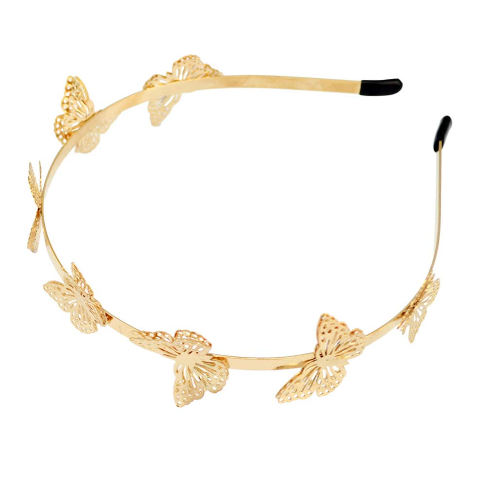 Butterfly Headband, Tiara Headpiece Hollow Metal Headband Alloy Hair Accessories for Women Girls