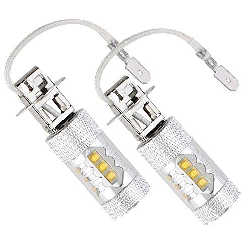 100W [H3] White LED Fog DRL Daytime Driving Light Lamp Bulbs - 3