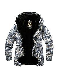Southplay mens Outdoor waterproof ski-snowboard U.S Military Gray Jacket