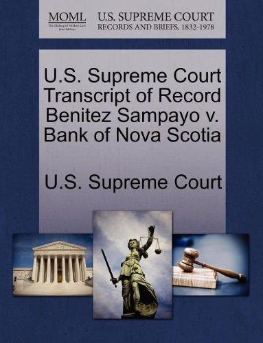 us-supreme-court-transcript-of-record-benitez-sampayo-v-bank-of-nova-scotia