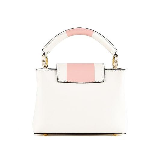 On Clearance LA'FESTIN Mode Sac à main pour femme cuir - - Blanc/rose, XS