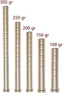 MILAEM 6pcs Archery Brass Arrow Weight 100/150/200/250/300 Grains Combo Screw Point Copper Insert