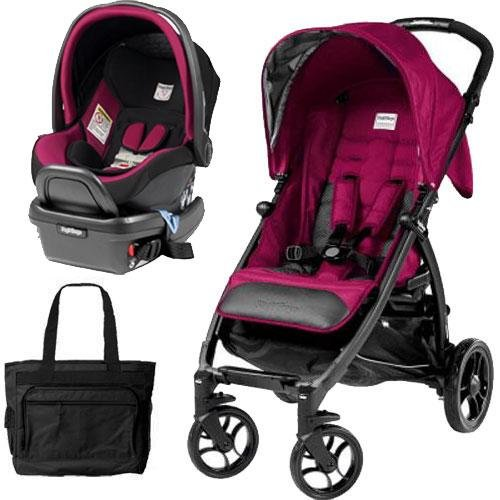 Peg Perego - Booklet Stroller Travel System with Diaper Bag - Fleur by Peg Perego