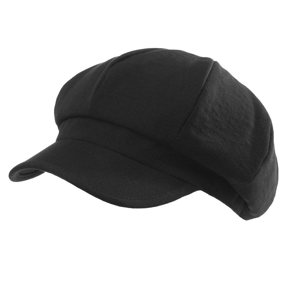 SIGGI Womens Newsboy Cap Winter Fall Berets Black Visor Cloche Cabbie Hat Lady Soft Lined