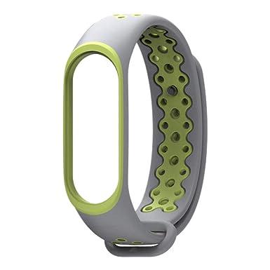 JiaMeng Correas para Xiaomi Mi Band 3 de Pulsera de Repuesto de Silicona Suave Reemplazo Ventilador Sport Soft Muñequera Correa Muñequera: Amazon.es: Ropa y ...