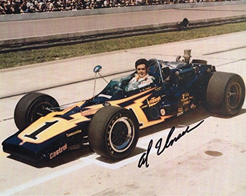 Al Unser Signed Picture - 8x10 COLOR +COA FOUR TIME INDY 500 CHAMPION - Autographed - Indy 500 Champions