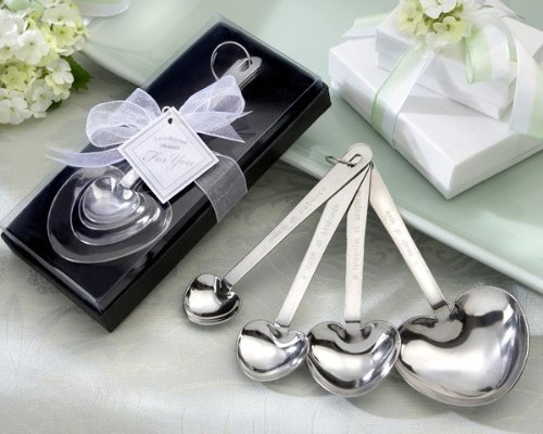 Love Beyond Measure Heart Measuring Spoons in Gift Box set of 24 by Kate Aspen