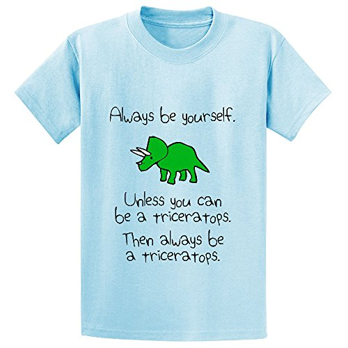 Price comparison product image Chas Always Be Yourself Unless You Can Be A Triceratops Boys' Short Sleeve Tees