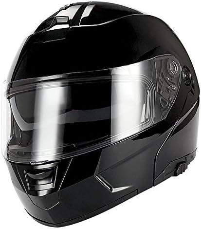 1Storm Motorcycle Modular Full Face Helmet Flip up Dual Visor//Sun Shield Racing Red