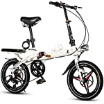 JXH 16 Pollici Ultra Luce Portatile Biciclette Mini Folding elettrici per Adulti Scooter Doppi Freni a Disco e Doppio…