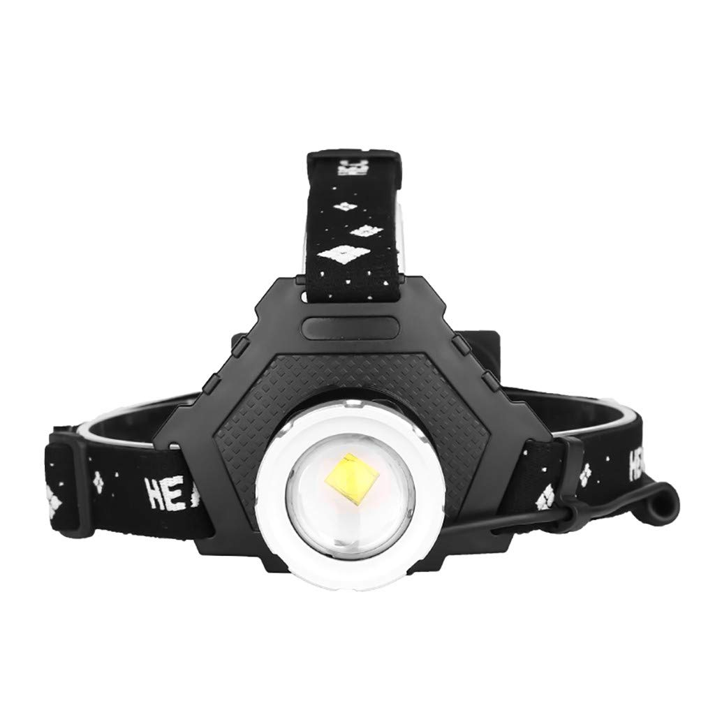 1KTon Headlamp, Super Bright Headlamp Headlight Flashlight With Charging Display, 5 Modes XHP50 LED Headlamp for Runing,Hiking,Camping,Fishing,Hunting by 1KTon