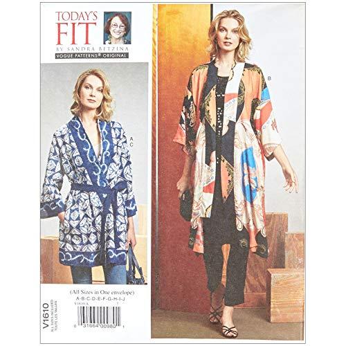 - Vogue Fit by Sandra Betzina Misses' Kimono/Belts OSZ (One Size) Multi