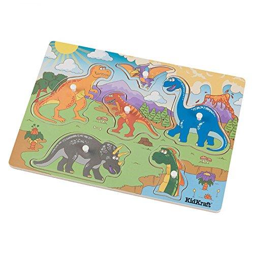 Chunky Peg - KidKraft Boys Chunky Dinosaur Peg Puzzle, (6 Piece)