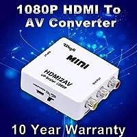 CFY 1080p HDMI To AV 3RCA CVBS Composite Video Audio Converter Adapter HDMI2AV Converter Support PAL/NTSC TV Format Output