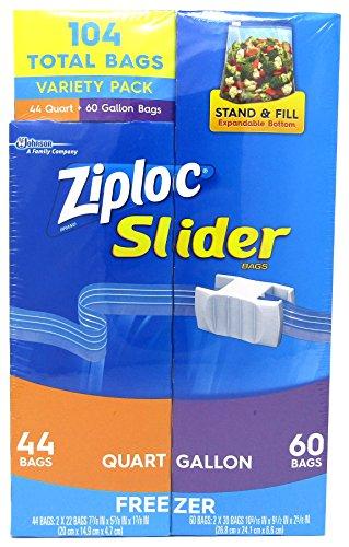 ziploc slider gallon freezer - 7