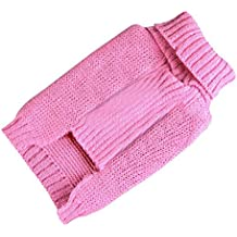 Clearance!! Dog Crochet Red Star Knitted Dog Puppy Sweater Pet Jumper Apparel Clothes (2XL, Pink)