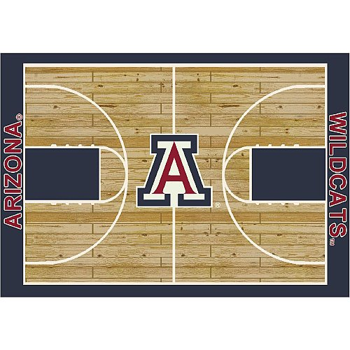 Arizona Wildcats College Basketball 5x7 Rug from - Basketball Rug Arizona