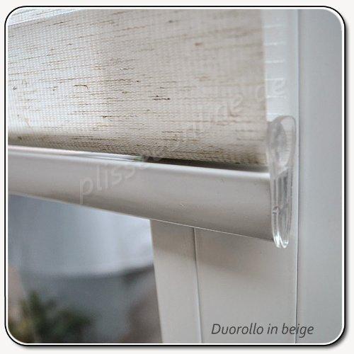 Larghezza in doppio cieco 90 cm lunghezza 250 cm colore beige con ampia appesantire + cassetta chiusa + hoist Duo rotolo kskeskin