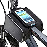 "ArcEnCiel Cycling Frame Bag Head Tube Bag Front Top Tube Frame Pannier Double Bag Pouch Holder Crossbar Bag For ≤ 5.7"" Phone"