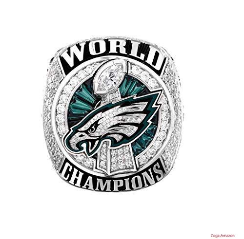 - Zoga Philadelphia Eagles Ring, Super Bowl LII World Replica Ring with Display Case (Foles)