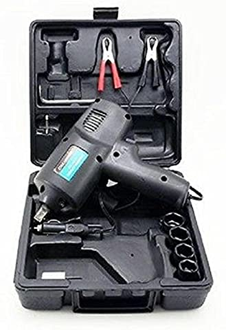 Power Tools Supplies Emergency Roadaside 12 Volt Impact Wrench Gun Kit Flat Tire Lug Nuts Portable (Impact Wrench Attachment)