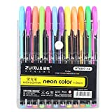 Clearance Sale!UMFun Office School 12Colors Refills Markers Watercolor Gel Pen Replace Supplies Refill Set