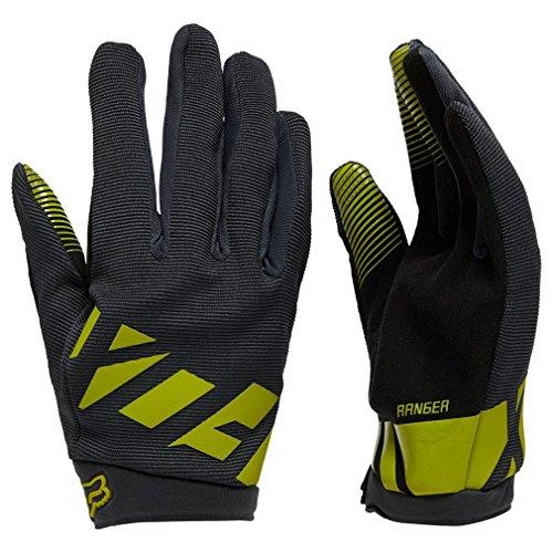 Fox Head Mens Ranger Bike Safety BMX MTB Gloves (Black/Yellow, Small)