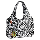 Okiedog Equinox Celeb Tote Luxury Baby Changing Bag (Black/White) by Okiedog