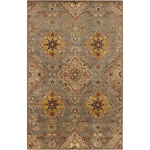 (Diva At Home 2' x 3' Moroccan Allure Copper Brown, Olive Green and Burgundy Red Wool Area Throw Rug)