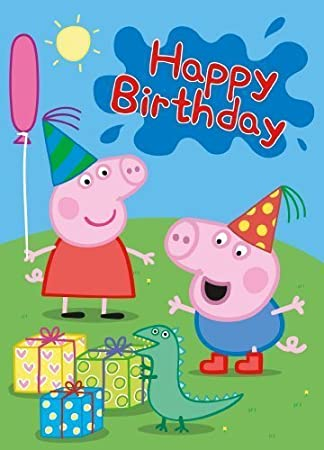 Amazon.com: Party Bags 2 Go Peppa Pig Happy Birthday Card ...