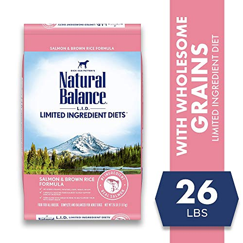 Natural Balance L.I.D. Limited Ingredient Diets Dry Dog Food, 26 Pounds, Salmon & Brown Rice Formula