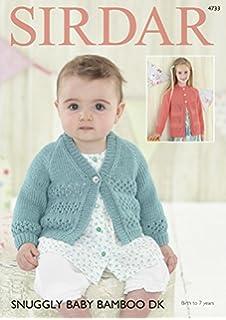 a91bdb410 Hayfield Baby Cardigans Knitting Pattern 4535 Chunky  Amazon.co.uk ...