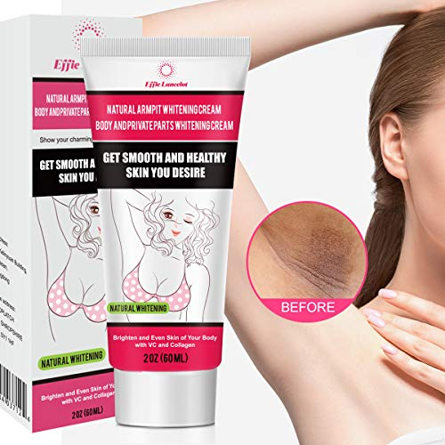 Underarm Whitening Cream, Natural Skin Bleaching Cream with Vitamin C Effective for Lightening & Brightening Armpit, Knees, Elbows Neck, Dark Spots, Whitens, Nourishes, Repairs Skin 60g (60g) (Best Skin Whitening Cream For Black Skin)