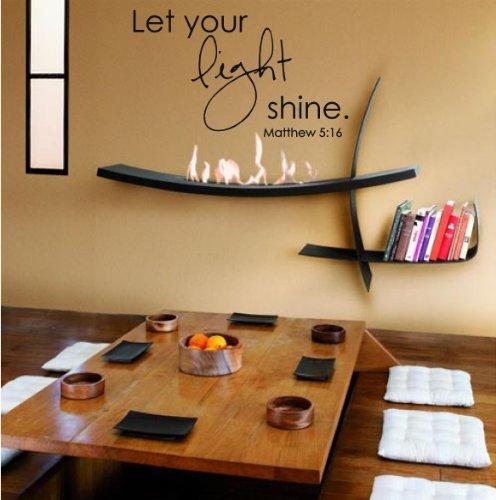 """Buy now Global Graffix Matthew 5:16 wall decal sticker home décor 23"""" x 14"""""""