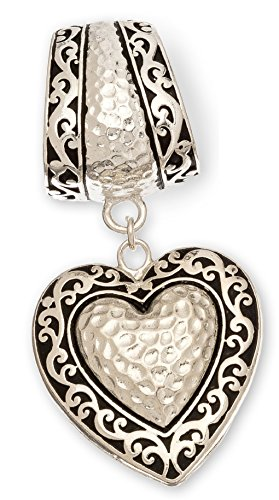 Heart Slide Pendant Scarf Jewelry
