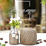 YANGTUO Natural Jute Twine Best Arts Crafts Gift Twine Packing Materials Durable Hemp Cord String For Decoration (Diameter 2mm Long 328 feet)