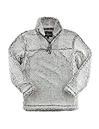 Boxercraft Adult Super Soft 1/4 Zip Sherpa Pullover-Smokey Grey-x-small