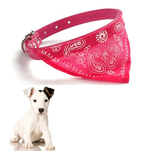 Gotd Halloween New Pet Dog Cat Puppies Collars Scarf Neckerchief Necklace Triangle (Hot Pink) (Cat Dog Halloween)