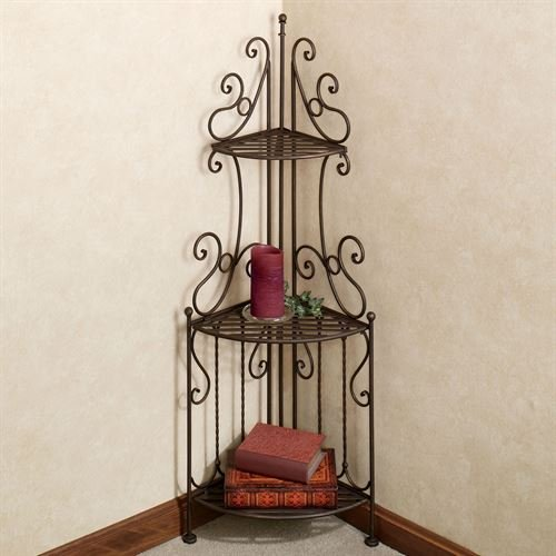 - Touch of Class Carabella 3 Tier Corner Etagere Antique Bronze