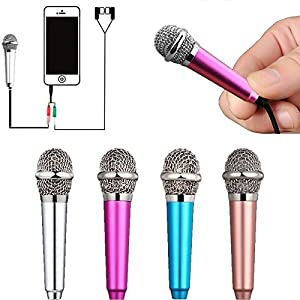 Uniwit Mini Portable Vocal/Instrument Microphone For Mobile phone laptop Notebook Apple iPhone Sumsung Android With Holder Clip – Silver