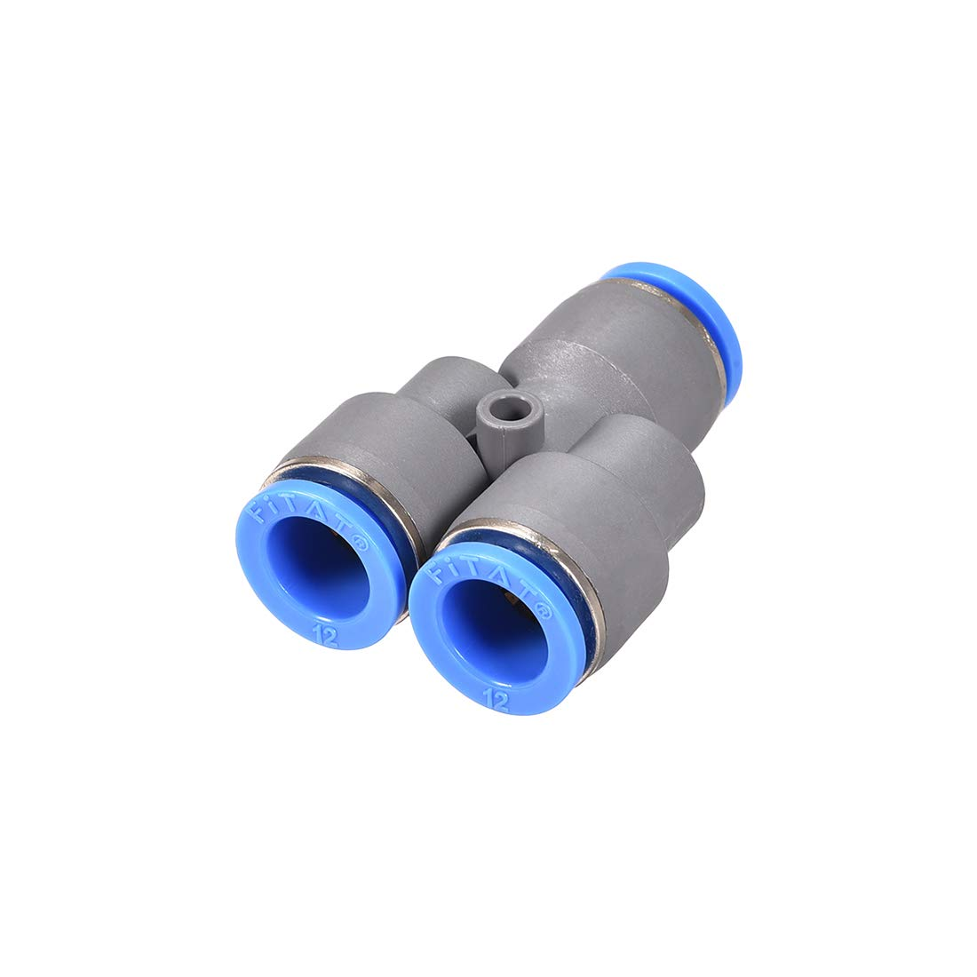 uxcell Push to Connect Air Fittings Y Type Tube Connect 12mm OD Push Lock Grey