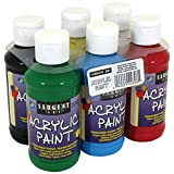 Sargent Art 22-4806 6 Pack 4-Ounce Acrylic Paint Set (Primary)