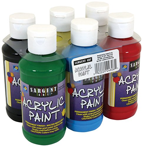 22-4806 Sargent Art Primary Acrylic Paint Set, 4 Ounce, 6-Pack (Pumpkin Paint)